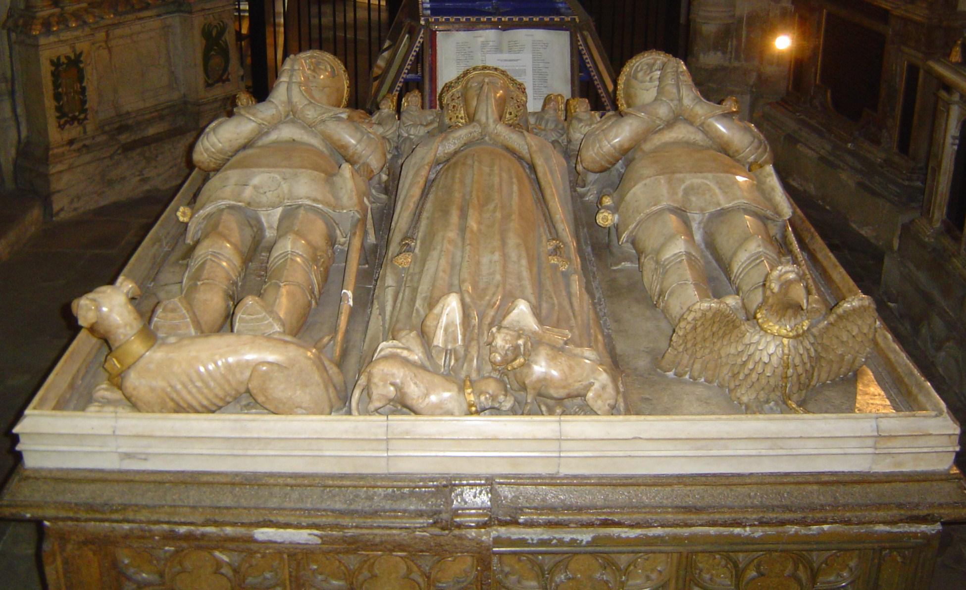 ca. 1439 - 'Lady Margaret Holland ( 1439) met Clarence en Somerset', Canterbury Cathedral 01 (1)