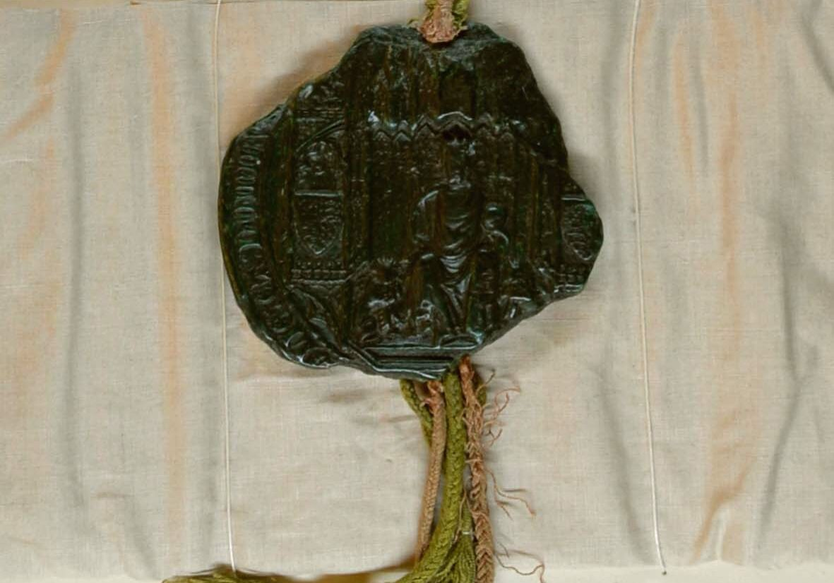 Seal from the Charter of Incorporation, granted to Coventry by Edward III in 1345